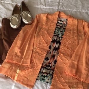 🌷SPRING🌷Chico's Orange Linen Blazer